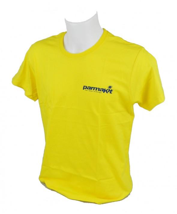 T-shirt manica corta -girocollo personalizzata logo PARMAKIT su taschino e schiena