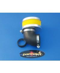 Filtro aria a 90° per carburatori 17.5-19-21-24-25 - giallo