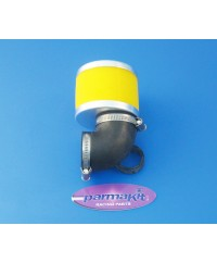 Filtro aria carburat 28 90° giallo d48mm