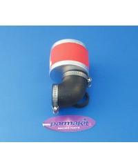 Filtro aria a 90° per carburatori  d.28 - rosso