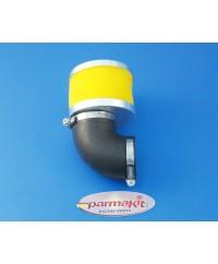 Filtro aria a 90° per carburatori 28 -  giallo
