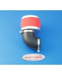 Filtro aria carburat19-21-24 90° rosso