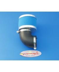 Filtro aria carburat19-21-24 90° blu