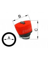 Filtro aria semicurvo d.49 interno H 68