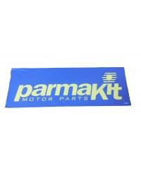 Striscione PK TNT 150 x 50 cm fondo blu-scritta Gialla