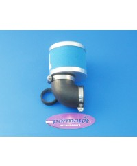 Air filter carburat 28 90°d48mm blue
