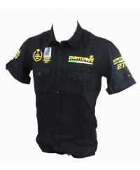 Camicia nera uomo dei campioni d'Europa -maniche corte + personalizzazione