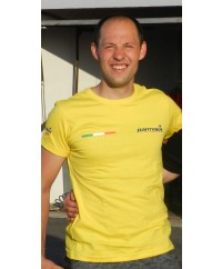 T-shirt manica corta+ bandiere ITALIA-girocollo  personalizzata logo PARMAKIT su taschino, schiena, maniche + bandierine